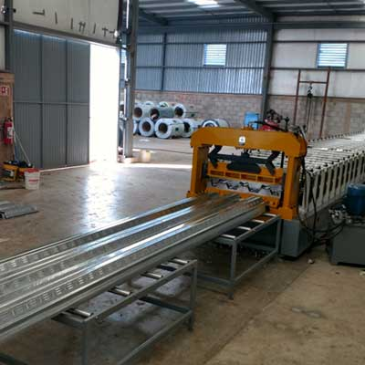 Mexican customer - Floor Decking Roll Forming Machine