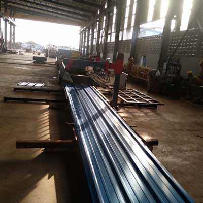Ghanaian customer -Roof Panel Roll Forming Machine