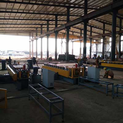 Ghanaian customer -Stud and Track Roll Forming Machine