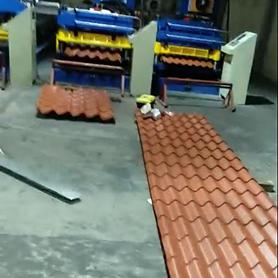 Mexican Customer- Roof Tile Roll Forming Machine